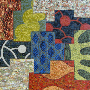 """Short Story, 24"""" x 24"""", acrylic and pumice on panel, 2008"""