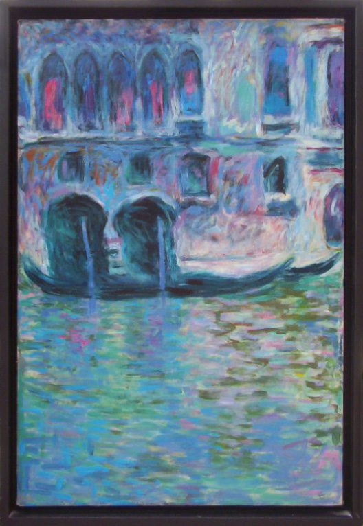 """After Monet, acrylic on canvas, 24"""" x 16"""""""
